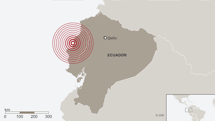 Karte Map Earthquake Ecuador