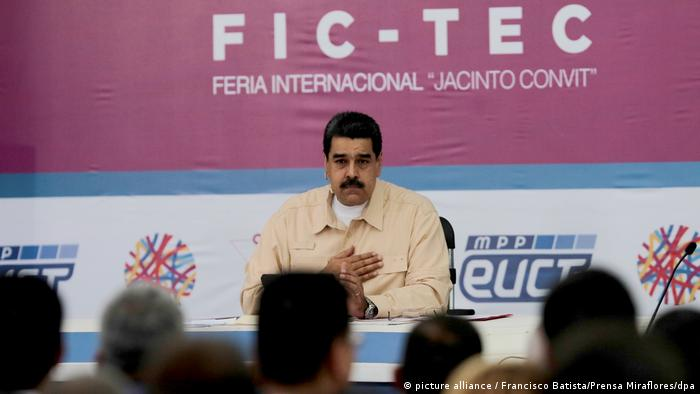 Venezuelas Staatschef will neue Kryptowährung (picture alliance / Francisco Batista/Prensa Miraflores/dpa)