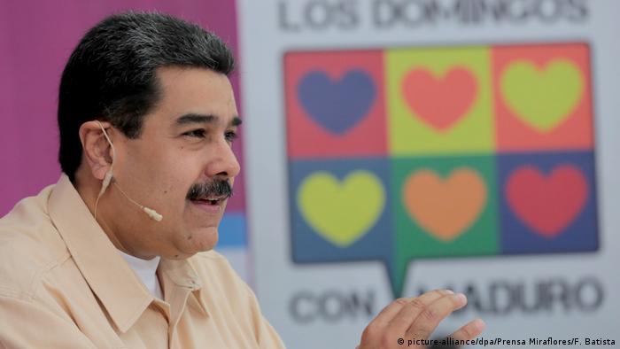Venezuela Staatschef Maduro will neue Kryptowährung (picture-alliance/dpa/Prensa Miraflores/F. Batista)