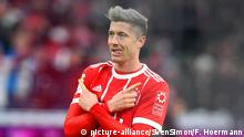 Fußball Mimik, Gestik Lewandowski (picture-alliance/SvenSimon/F. Hoermann)