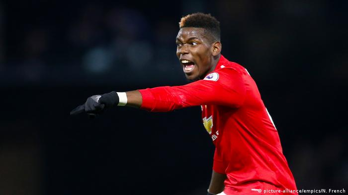 Fußball Paul Pogba Mimik, Gestik (picture-alliance/empics/N. French)