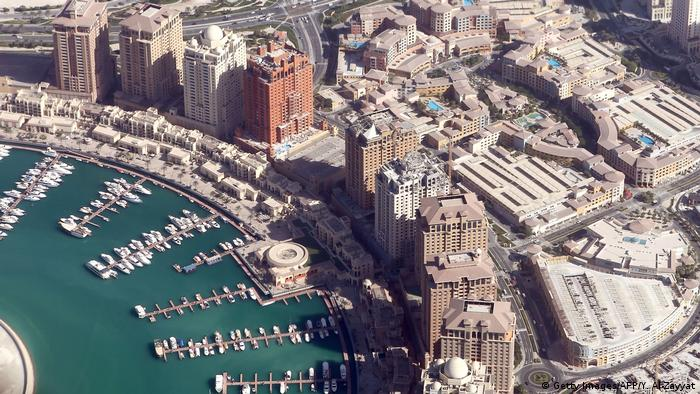 Katar Doha Luftaufnahme Hafen (Getty Images/AFP/Y. Al-Zayyat)