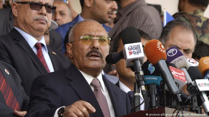 Jemen Ex-Präsident Ali Abdullah Saleh (picture-alliance/AP Photo/H. Mohammed)