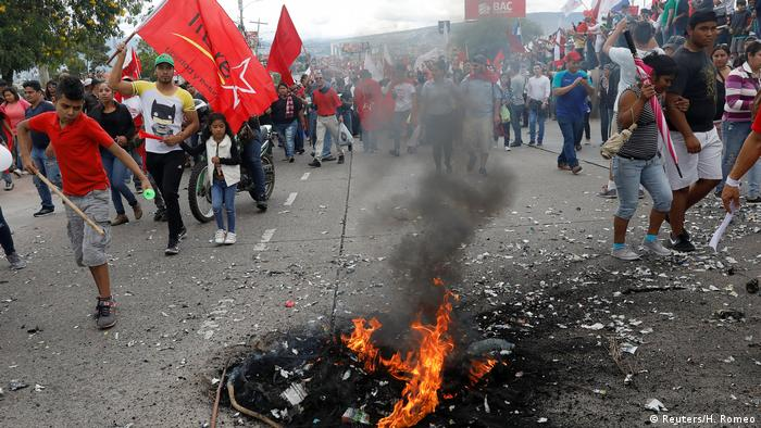 Protests after the election in Honduras