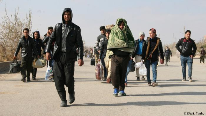 Afghan refugees returning from Iran DWS Tanha
