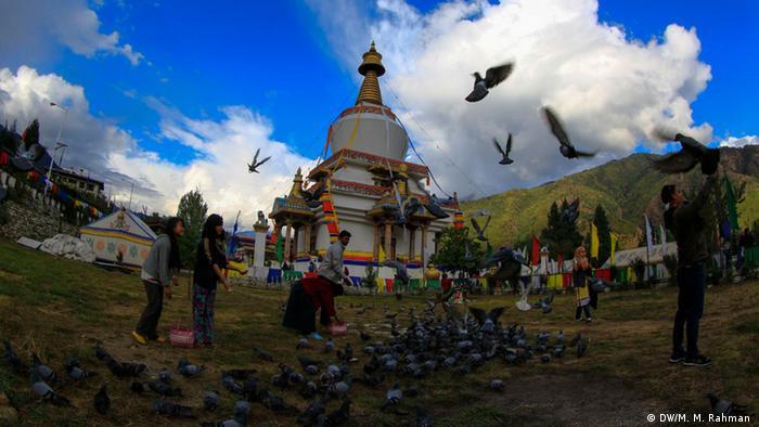 Touristische Attraktionen rund um die Thimpuh Stadt in Bhutan (DW/M. M. Rahman )