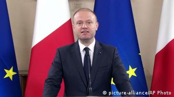 Malta Ministerpräsident Joseph Muscat zum Fall Daphne Caruana Galizia (picture-alliance/AP Photo)