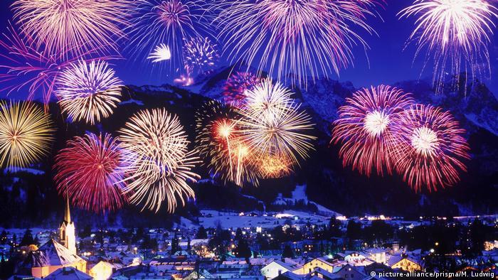 Fireworks in Bavaria, Germany