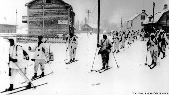 Finnische Soldaten im 2. Weltkrieg