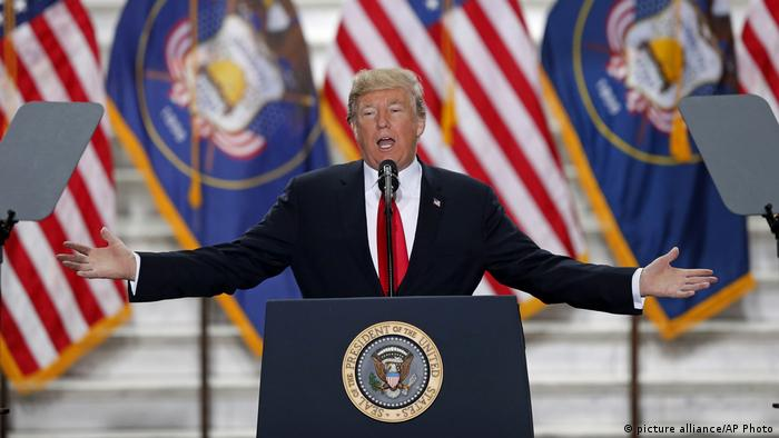Donald Trump gives a speech in Utah (picture alliance/AP Photo/R. Bowmer)