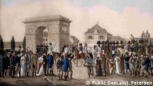Gemälde Einzug Napoleons in Düsseldorf November 1811