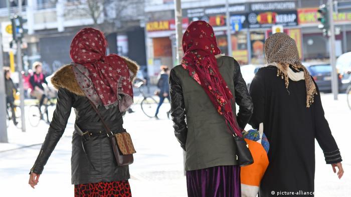 Muslim women walking in Berlin's Neukölln district