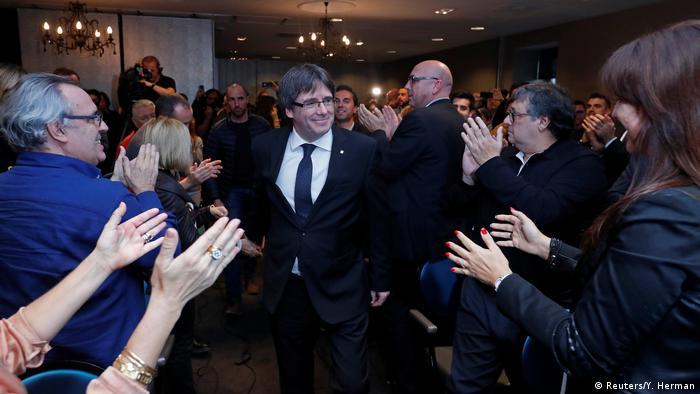 Belgien Carles Puigdemont in Oostkamp
