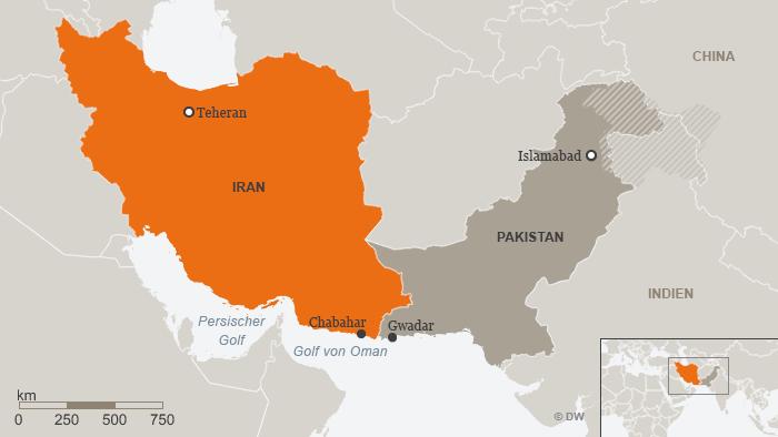 Karte Iran Chabahar DEU