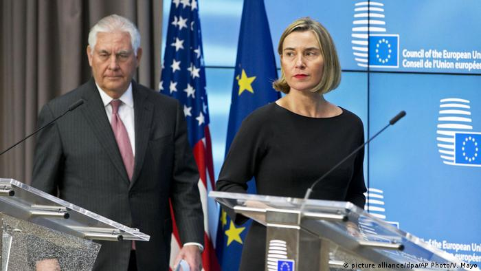 Belgien Federica Mogherini in Brüssel (picture alliance/dpa/AP Photo/V. Mayo)