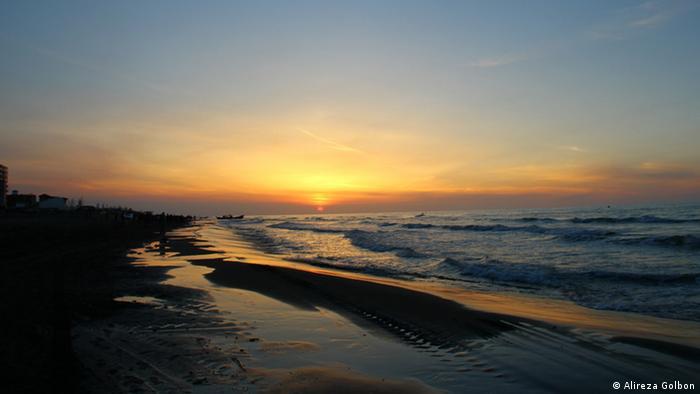 غروب دریای خزر