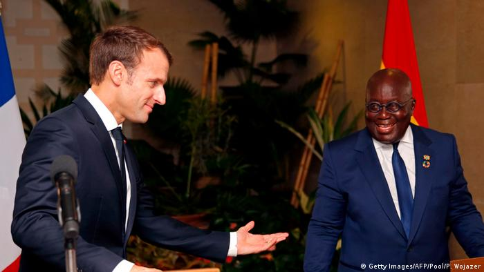 Emmanuel Macron and Nana Akufo-Addo (photo: Getty Images/AFP/Pool/P. Wojazer)