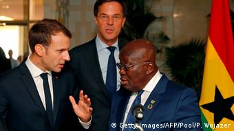 Ghana Emmanuel Macron und Nana Akufo-Addo