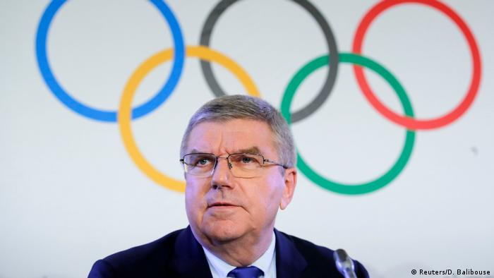 IOC President Thomas Bach in Lausanne in Tuesday (Reuters/D. Balibouse)