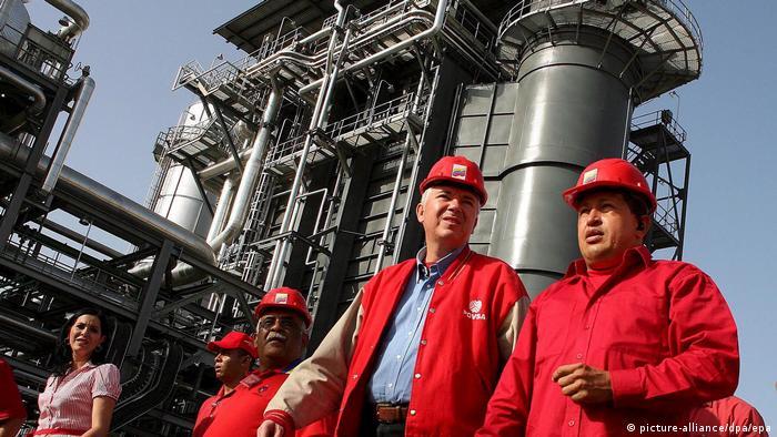 Seen here with the late Hugo Chavez, Rafael Ramirez was instrumental in centralizing Venezuela's oil company