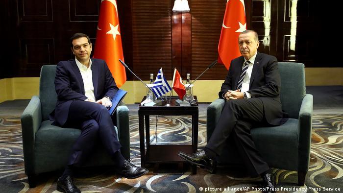 Griechischer Premier Tsipras mit türkischem Präsident Erdogan
