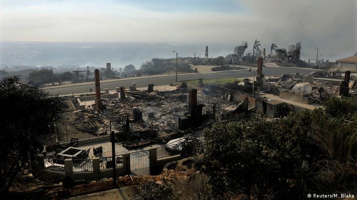 USA Kalifornien Waldbrände Ventura,