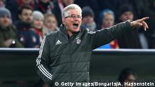 MUNICH, GERMANY - DECEMBER 05: Jupp Heynckes, coach of Bayern Muenchen gives his team instructions during the UEFA Champions League group B match between Bayern Muenchen and Paris Saint-Germain at Allianz Arena on December 5, 2017 in Munich, Germany. (Photo by Alexander Hassenstein/Bongarts/Getty Images)