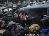 Міхеіл Саакашвілі виривається з автомобіля під час спроби затримання 5 грудня