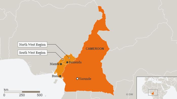 Karte Kamerun Mamfe Bamenda Buea ENG