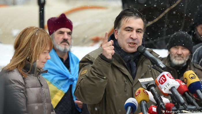 Михаил Саакашвили в Киеве (фото из архива)
