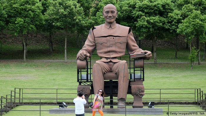A statue of Chiang Kai-shek in Taoyuan