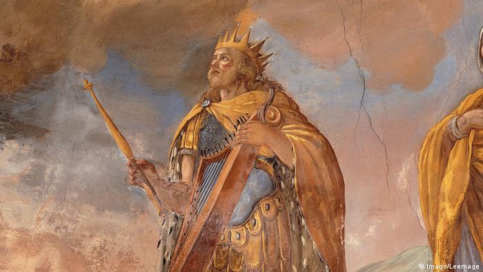Afresco representando o rei Davi