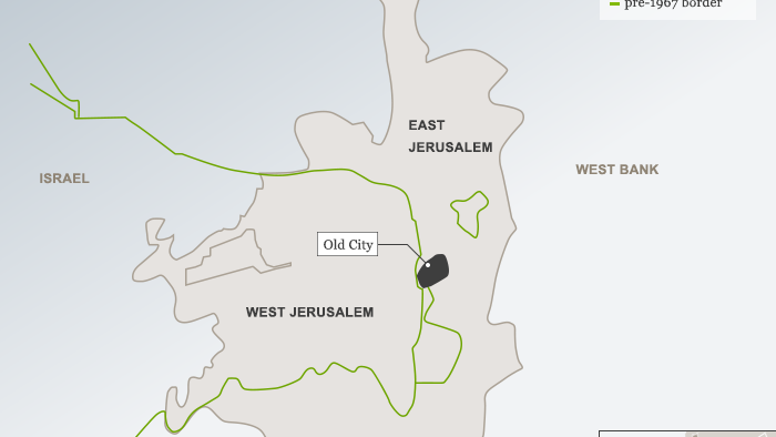 Karte Map Jerusalem ENG