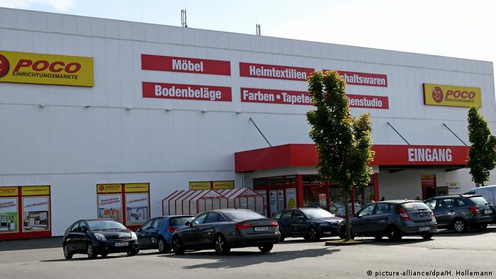 Storefront of Poco furniture discount in Hanover, Germany