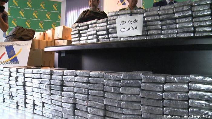Кокаин, конфискованный у банды в Испании 4 декабря 2017 года