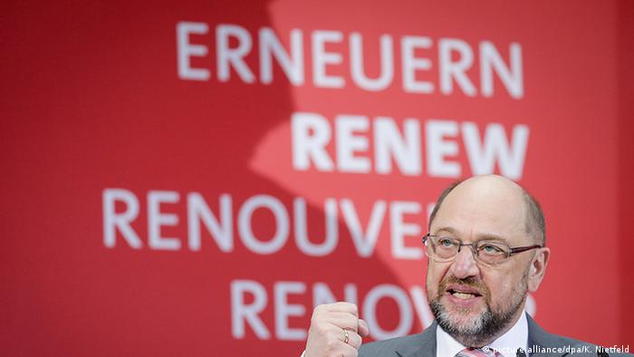 Leader of the SPD Martin Schulz (picture alliance/dpa/K. Nietfeld)