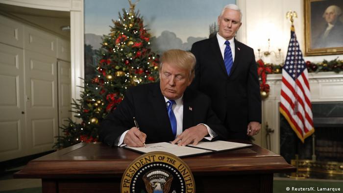 USA Trump erkennt Jerusalem als Hauptstadt Israels an (Reuters/K. Lamarque)