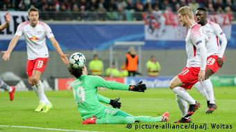 UEFA Champions League 6. Spieltag   RB Leipzig vs. Besiktas Istanbul   TOR UNGÜLTIG Leipzig