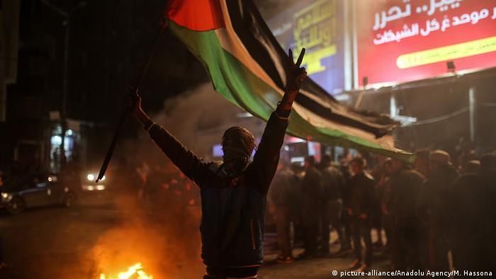 Gazastreifen Protest gegen Donald Trump, US-Präsident - Anerkennung Jerusalem als Hauptstadt (picture-alliance/Anadolu Agency/M. Hassona)