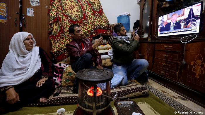 Jordanien palästinensische Flüchtlinge   TV Donald Trump, US-Präsident - Anerkennung Jerusalem als Hauptstadt (Reuters/M. Hamed)