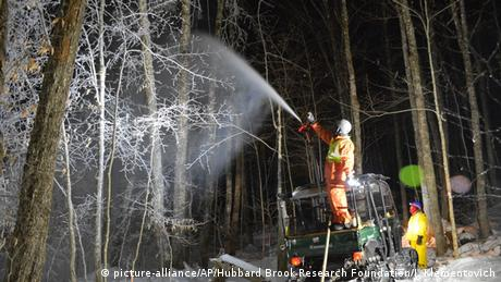 USA Forschung hubbard brook - Winterwunderwald (picture-alliance/AP/Hubbard Brook Research Foundation/J. Klementovich)