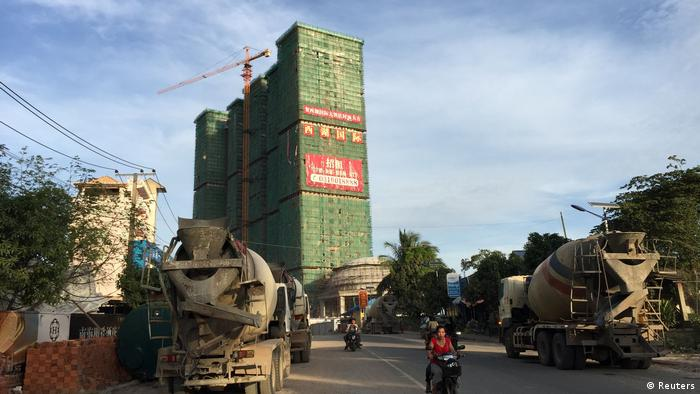 A Chinese hotel and entertainment complex under construction is seen at the Preah Sihanoukville province, Cambodia November 26, 2017
