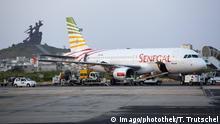 Senegal Verkehrsflugzeug auf dem Leopold Sedar Senghor Flughafen in Dakar