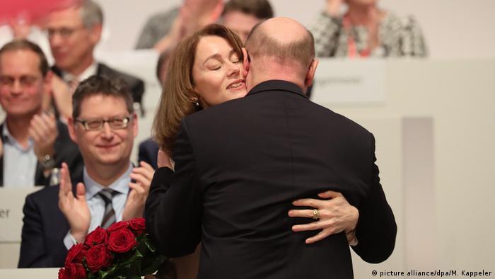SPD Parteitag in Berlin – Martin Schulz und Katarina Barley