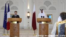 Französischer Präsident Macron zu Besuch in Katar