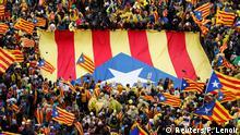 Befürworter der Unabhängigkeit Kataloniens demonstrieren in Brüssel
