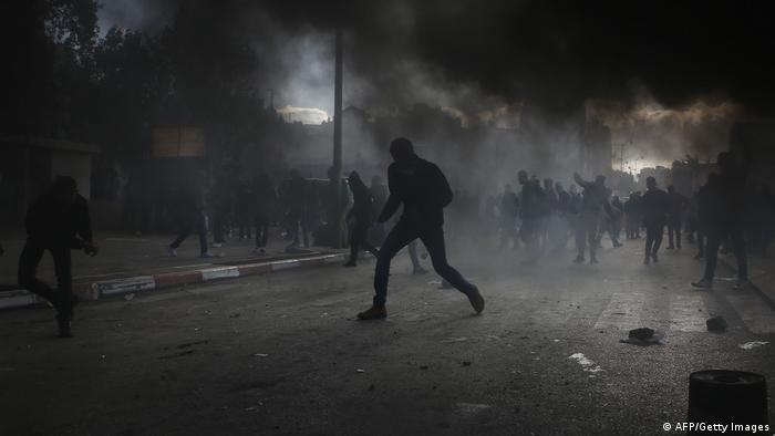 West Bank - Proteste gegen Jerusalem-Status in Ramallah