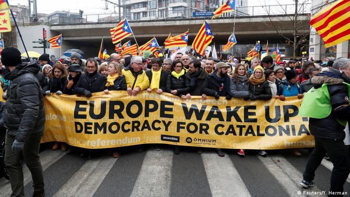 Brüssel Demonstration für unabhängiges Katalonien (Reuters/Y. Herman)