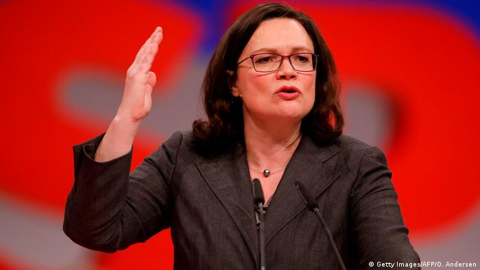SPD Parteitag in Berlin - Andrea Nahles (Getty Images/AFP/O. Andersen)