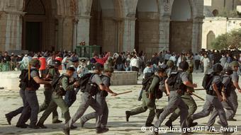 Столкновения между палестинскими протестующими и израильской полицией 28 сентября 2000 года